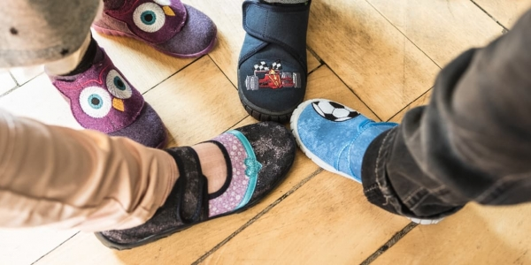 Use slippers on your hardwood floors