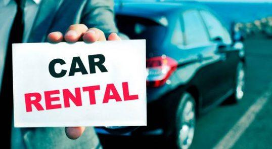 car rental p plate